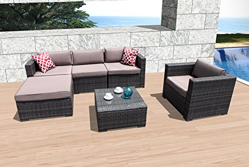 super patio 6 piece patio furniture weather resistant