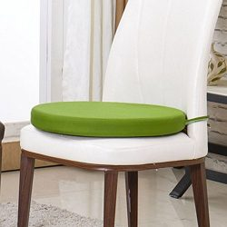 Sigmat Indoor/Outdoor Seat Cushions Waterproof Round Bar Stool Cushion Solid Chair Pad Green 14 Inch