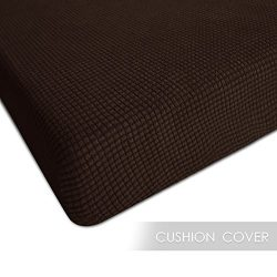 CHUN YI Jacquard Polyester Spandex Slipcover (Chair Cushion, Chocolate) Chunyi