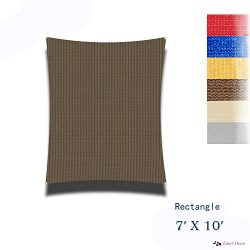 Eden's Decor Rectangle Sun Shade Sail UV Block Fabric for Patio Outdoor and Swimming pool  ...