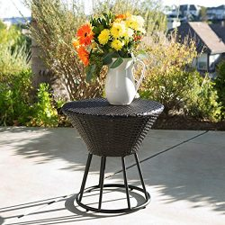 Christopher Knight Home 299590 Crete Ckh Outdoor Accent Tables, Multibrown