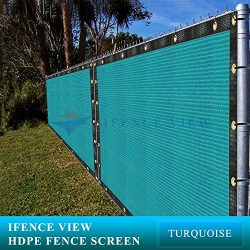 Ifenceview 6'x3′ to 6'x50′ Turquoise (Green) Shade Cloth/Fence Privacy S ...