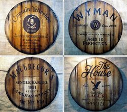 Personalized Round Table Top, 24″ D | Hand-painted, Custom theme on antique look wood | In ...