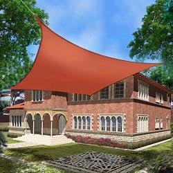 Belle Dura Patio Outdoor Sun Shade Sail Canopy 8'x10′, Rectangle Backyard Shade Sail ...