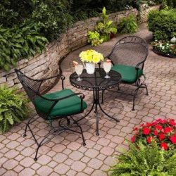 Clayton Court 3-Piece Motion Outdoor Bistro Set, Seats 2 – Best quality for a low price (G ...