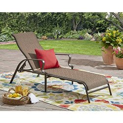 Mainstay Wesley Creek Outdoor Sling Chaise Lounge (Brown)