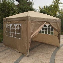 Z ZTDM 10′ X 10′ Easy Pop Up Canopy Tent, Portable Folding Gazebo for Outdoor Commer ...
