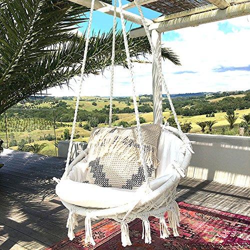 Sonyabecca Hammock Chair Macrame Swing 265 Pound Capacity