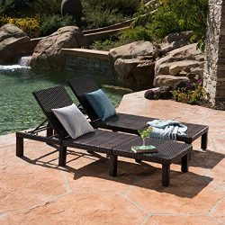 Great Deal Furniture Joyce Outdoor Multibrown Wicker Chaise Lounge without Cushion (Set of 2)
