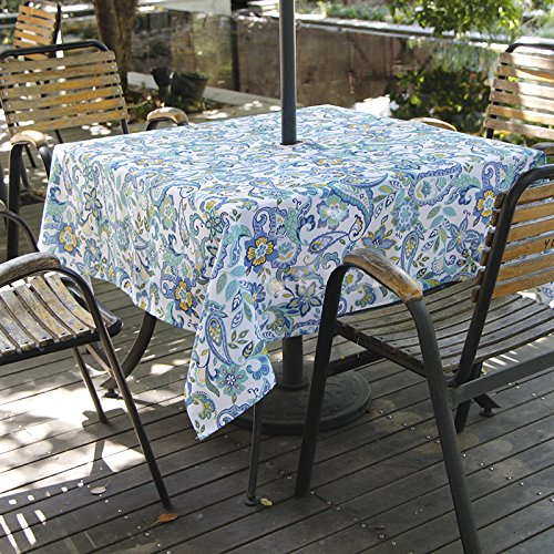 Colorbird Modern Paisley Flower Tablecloth Waterproof