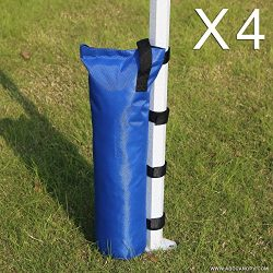 "ABCCANOPY Weight Sand Bags 18"" Long sand bags 4pcs (blue)"