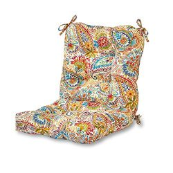 Greendale Home Fashions Outdoor Seat/Back Chair Cushion in Painted Paisley, Jamboree