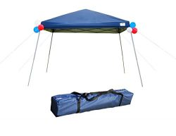 GOJOOASIS Pop Up Canopy Party Tent with Carry Bag 10×10 Instant Shelter Easy Gazebo Blue (S ...