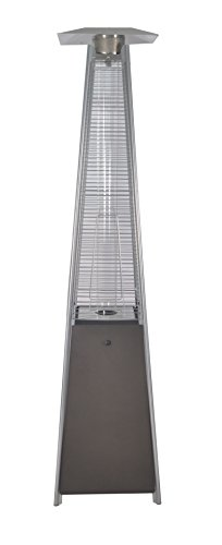 LEGACY HEATING Quartz Glass Tube Patio Flame Heater, Mocha powder coated finish