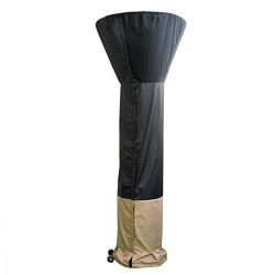 Stanbroil Standup Patio Heater Cover, Black/Camel, 36″ D x 95″ H