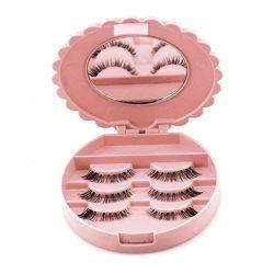 LtrottedJ Acrylic Cute Bow False Eyelash Storage Box Makeup Cosmetic Mirror Case Organizer Acryl ...