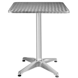 Giantex Tall Bar Table Outdoor Patio Pub Restaurant Height Adjustable Bistro Table Aluminum Stai ...