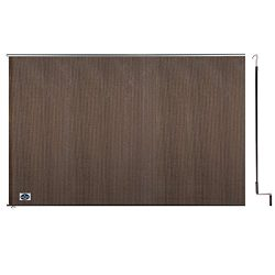 Cool Area 6ft x 8ft Outdoor Cordless Roller Sun Shade for Proch Patio in color Burnt Umber