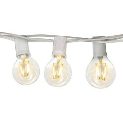 Brightech Ambience PRO Waterproof Globe Outdoor String Lights – G40 LED Vintage Edison Bul ...