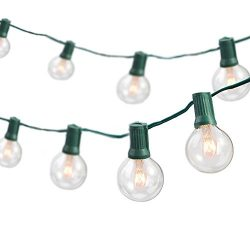 TaoTronics Globe String Lights with 25 G40 Bulbs, Connectable Outdoor Garden Party Bistro Market ...