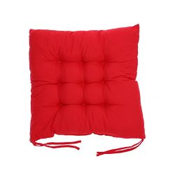 Matefield Soft Cotton Seat Cushion Winter Home Office Bar Chair Cushion(Red)