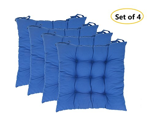 Elfjoy Solid Square Tufted Chair Pads Set Of 4 Indoor