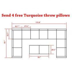 Do4U 3-12 Pieces Outdoor Rattan Sofa Wicker Sectional Patio Furniture set | Patio, Backyard, Poo ...