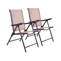 APEX LIVING Set of 2 Textile Recliner Outdoor Patio Furniture Chairs with 5-Position Adjustment  ...