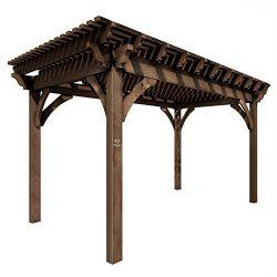 SHADESCAPE – 10×16 Pergola – 6,000 Series Heavy Timber Kit – 6×6 Pos ...