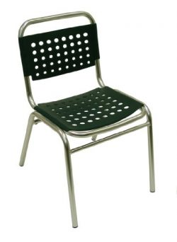 ATC South Beach Side Chair with Anodized Aluminum Frame, Green (Pack of 4)