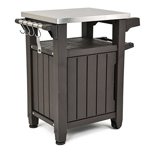 Outdoor Prep Station Serving Bbq Grilling Patio Deck Cabinet Backyard Table