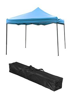 Trademark Innovations Lightweight & Portable Canopy Tent Set, Teal Canopy, 10′ x 10′