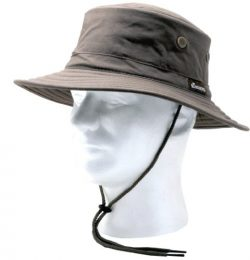 Sloggers Classic Cotton Hat with Wind Lanyard, Dark Brown, UPF 50+ Maximum Sun Protection, Style ...