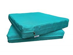 QQbed Outdoor Patio Deep Seat Memory Foam (Seat and Back) Cushion Set With Waterproof Internal C ...