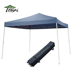 MYAL Outdoor Pop-Up Canopy Tent with Roller Bag 10′ x 10′ Blue