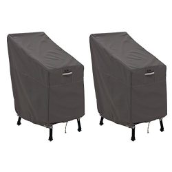 Classic Accessories 55-920-015102-2PK Ravenna Patio Bar Chair/Stool Cover, 2-Pack