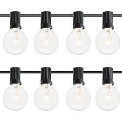 dephen 25Ft G40 Globe String Lights with 25 Clear Bulbs, Energy Saving UL listed Backyard Patio  ...