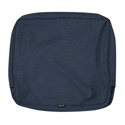 Classic Accessories Montlake Patio FadeSafe Back Cushion Slip Cover, Indigo 23″ Wx22 Hx4 T