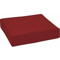 Outdoor Patio Deep Seat Bottom Cushion, Multiple Patterns, Red
