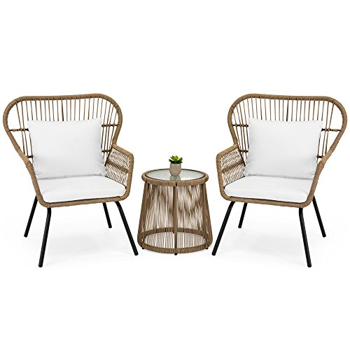 Best Choice Products 3-Piece All Weather Wicker