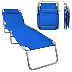 Flexzion Patio Lounge Chair – Portable Folding Chaise Bed for Outdoor Indoor Furniture Hom ...