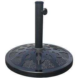 Elite Shade Round Umbrella Base Stand Market Patio Outdoor Heavy Duty Umbrella Holder (Black-Fas ...
