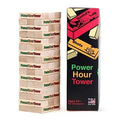 Power Hour Tower Drinking Game – Hilarious, Entertaining, & Outrageous Adult Party Game – Fu ...
