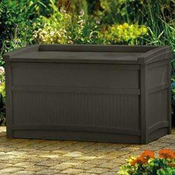 Porch Storage Container Cabinet Organizer Outdoor Deck Weatherproof Wicker Box Bench Deck Pool E ...