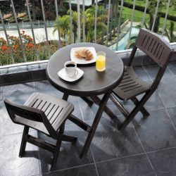 Rimax Casual Brown Folding Bistro Set