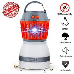 Bug Zapper Lamp-Mosquito Zapper Lamp-2-In-1 Zapper Lantern Charge Via USB-Lightweight Camping Ge ...