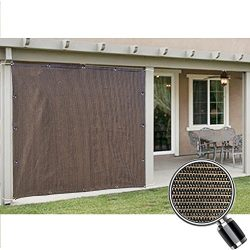 Alion Home Sun Shade Privacy Panel with Grommets and Hems on 4 Sides for Patio, Awning, Window,  ...