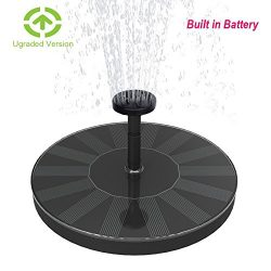 Skywee Upgraded Solar Fountains with Battery Backup, 1.5W Auto Shut-off Solar Powered Submersibl ...