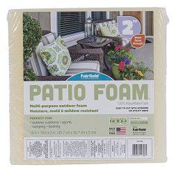 Fairfield Patio Foam Cushion for Outdoor Furniture, 18″ x 18″ x 2″, White