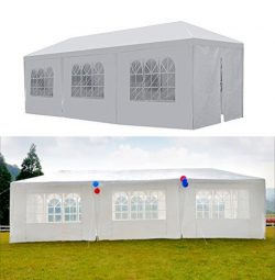 GOJOOASIS Canopy Tent Wedding Party Tent 10′ x 30′ with 8 Removable Walls Heavy Duty ...